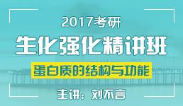 2017考研生化蛋白质的结构与功能-刘不言