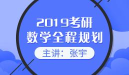 2019考研数学全程复习规划(下)