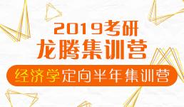 2019考研经济学定向半年集训营(专业课+单科公共课)