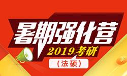 2019考研法律硕士暑期强化营(二科)