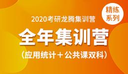 2020考研全年营—应用统计+双科(精练)