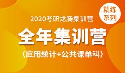 2020考研全年营—应用统计+单科(精练)