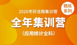 2020考研全年营—应用统计全科(精练)