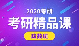 2020考研精品课—政数班