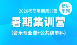 2020考研暑期营-音乐+公共课单科