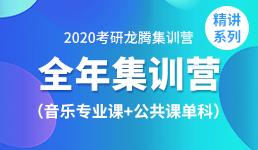 2020考研全年营-音乐+公共课单科