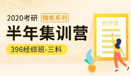 2020考研半年营-396经综三科精练班