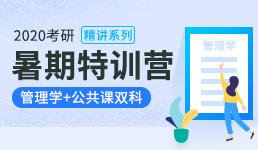 2020考研暑期营-管理学+双科精讲