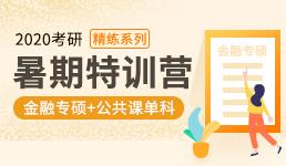 2020考研暑期营-金融专硕+单科精练
