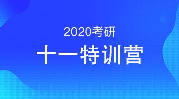 2020考研十一特训营