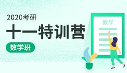 2020考研十一特训营-数学班