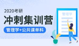 2020考研冲刺集训营-管理学+公共课单科