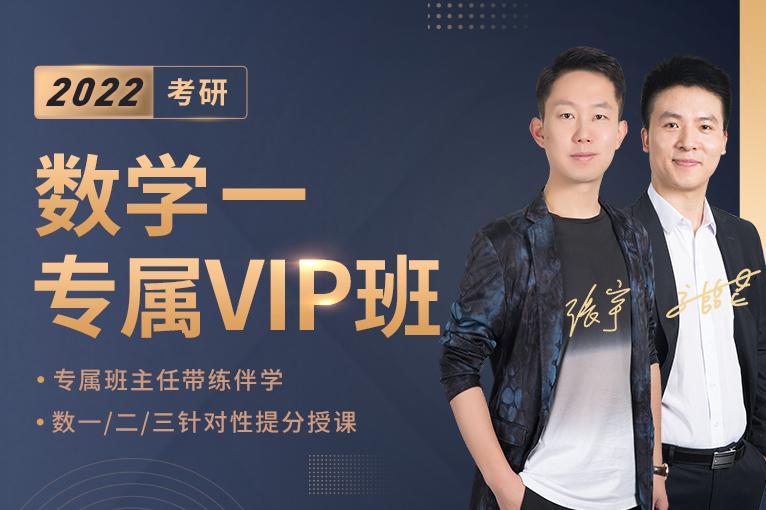 2022考研数学一专属VIP班(一期)